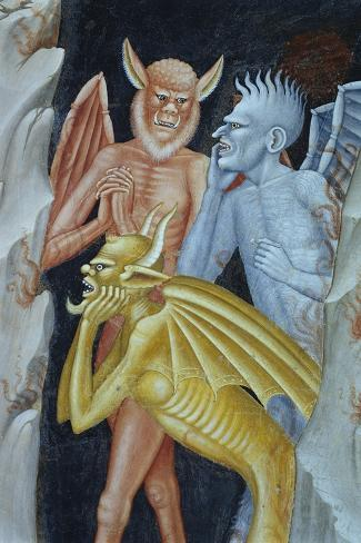 Detail of Demons from Militant Church and Triumphant Church-Andrea di Buonaiuto-Stretched Canvas Print
