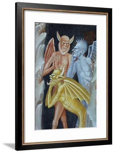 Detail of Demons from Militant Church and Triumphant Church-Andrea di Buonaiuto-Framed Art Print