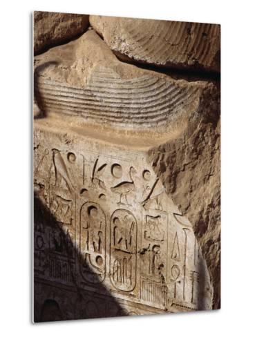 Detail of Heiroglyphics on a Colossi of Ramesses II at Sohag-S^ Vannini-Metal Print