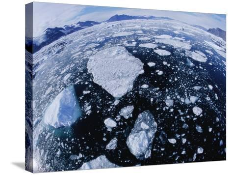 Ice in Nansen Fjord-Nevada Wier-Stretched Canvas Print