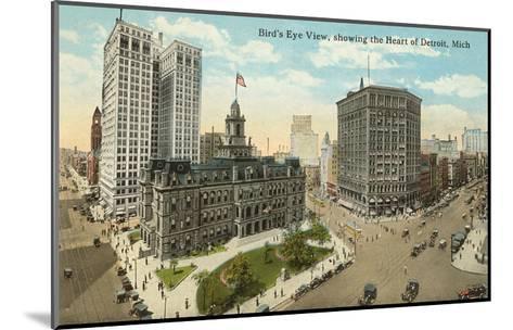 Downtown Detroit, Michigan--Mounted Art Print