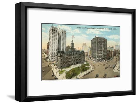 Downtown Detroit, Michigan--Framed Art Print