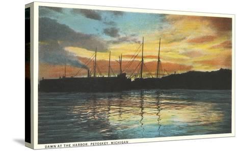 Harbor, Petoskey, Michigan--Stretched Canvas Print