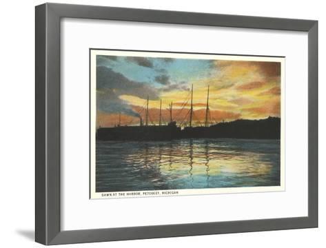 Harbor, Petoskey, Michigan--Framed Art Print