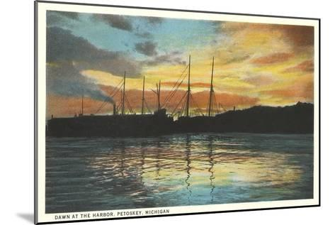 Harbor, Petoskey, Michigan--Mounted Art Print