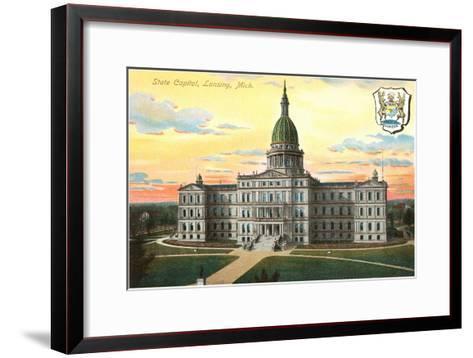 State Capitol, Lansing, Michigan--Framed Art Print