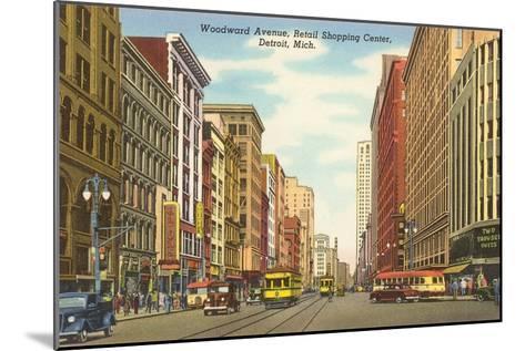Woodward Avenue, Detroit, Michigan--Mounted Art Print