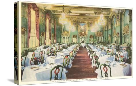 Venetian Room, Book-Cadillac Hotel, Detroit, Michigan--Stretched Canvas Print