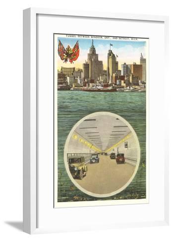 Tunnel to Windsor, Detroit, Michigan--Framed Art Print