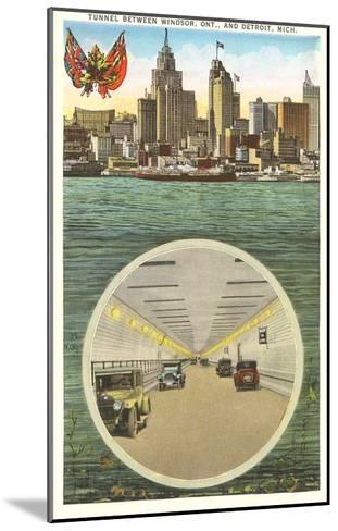Tunnel to Windsor, Detroit, Michigan--Mounted Art Print