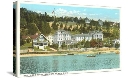 Island House, Mackinac Island, Michigan--Stretched Canvas Print