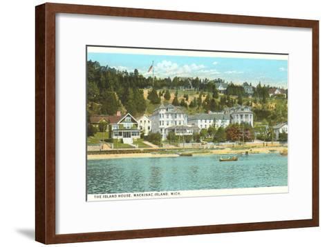 Island House, Mackinac Island, Michigan--Framed Art Print