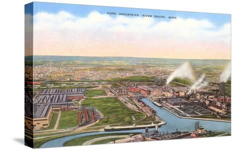 Ford Industries, River Rouge, Michigan--Stretched Canvas Print
