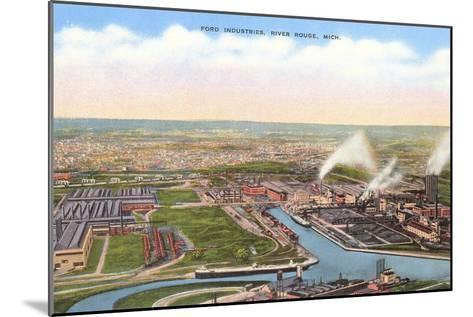 Ford Industries, River Rouge, Michigan--Mounted Art Print
