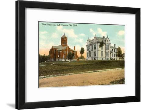 Courthouse and Jail, Traverse City, Michigan--Framed Art Print