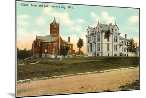 Courthouse and Jail, Traverse City, Michigan--Mounted Art Print