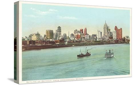 Skyline, Detroit, Michigan--Stretched Canvas Print