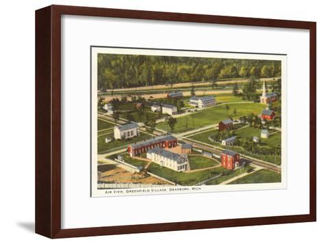 Aerial View, Greenfield Village, Dearborn, Michigan--Framed Art Print
