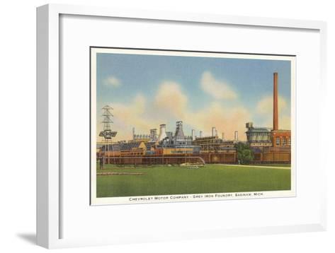 Chevrolet Factory, Foundry, Saginaw, Michigan--Framed Art Print