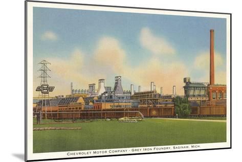 Chevrolet Factory, Foundry, Saginaw, Michigan--Mounted Art Print
