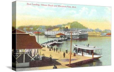 Boat Landing, Macatawa Park, Michigan--Stretched Canvas Print