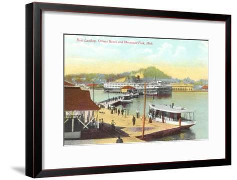 Boat Landing, Macatawa Park, Michigan--Framed Art Print