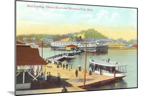 Boat Landing, Macatawa Park, Michigan--Mounted Art Print