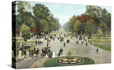 Central Avenue, Belle Isle, Detroit, Michigan--Stretched Canvas Print