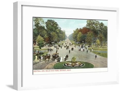 Central Avenue, Belle Isle, Detroit, Michigan--Framed Art Print