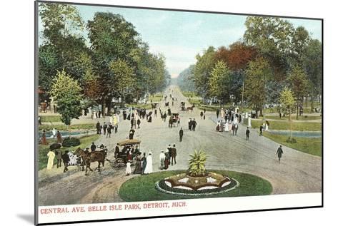 Central Avenue, Belle Isle, Detroit, Michigan--Mounted Art Print