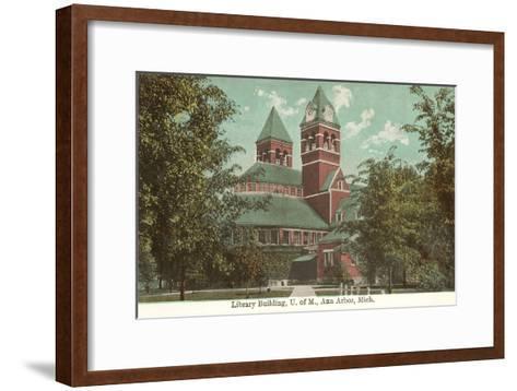 University Library, Ann Arbor, Michigan--Framed Art Print