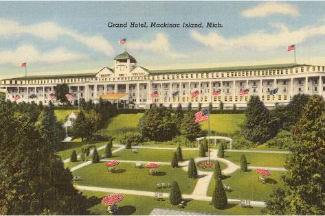 Grand Hotel, Mackinac Island, Michigan--Stretched Canvas Print