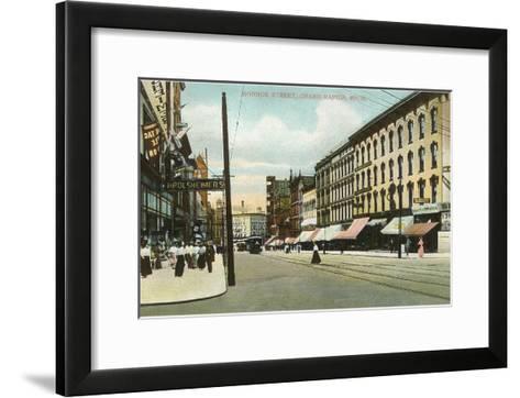 Monroe Street, Grand Rapids, Michigan--Framed Art Print