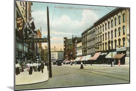 Monroe Street, Grand Rapids, Michigan--Mounted Art Print