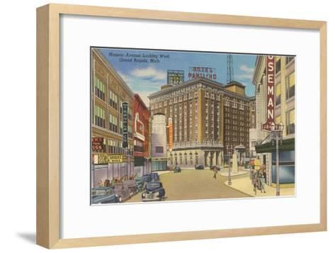 Monroe Avenue, Grand Rapids, Michigan--Framed Art Print