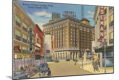 Monroe Avenue, Grand Rapids, Michigan--Mounted Art Print