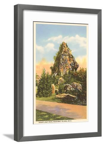 Sugar Loaf Rock, Mackinac Island, Michigan--Framed Art Print