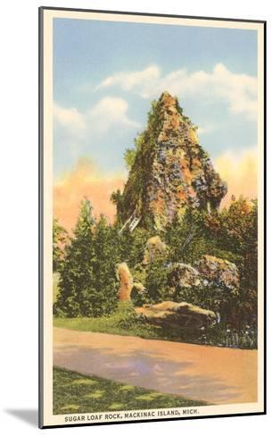 Sugar Loaf Rock, Mackinac Island, Michigan--Mounted Art Print