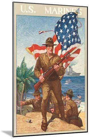 US Marines, On the Beach--Mounted Art Print