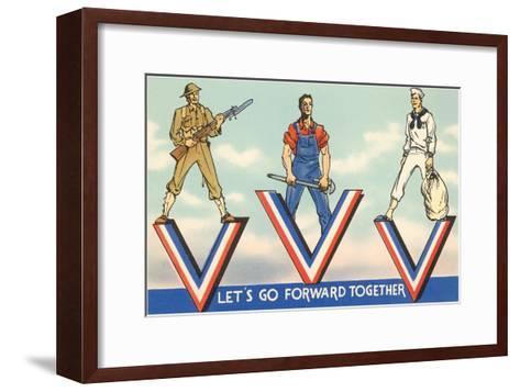 Let's Go Forward Together--Framed Art Print