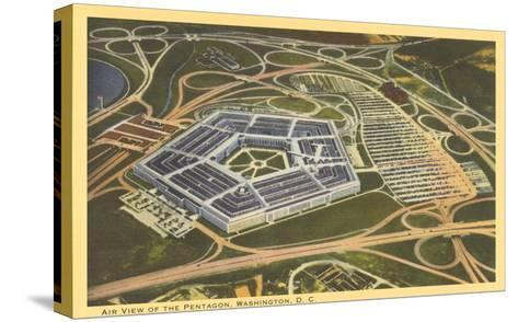 Aerial View of Pentagon--Stretched Canvas Print