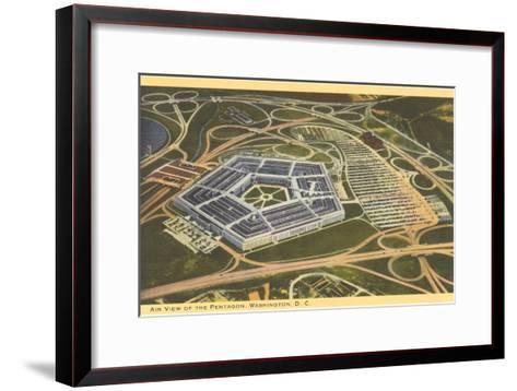Aerial View of Pentagon--Framed Art Print