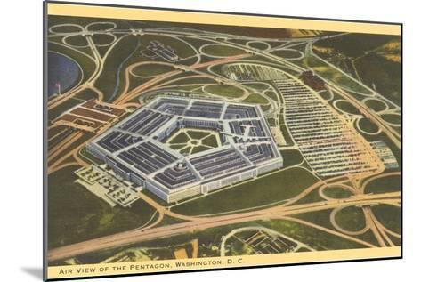 Aerial View of Pentagon--Mounted Art Print