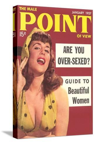 Men's Pulp Magazine Cover--Stretched Canvas Print