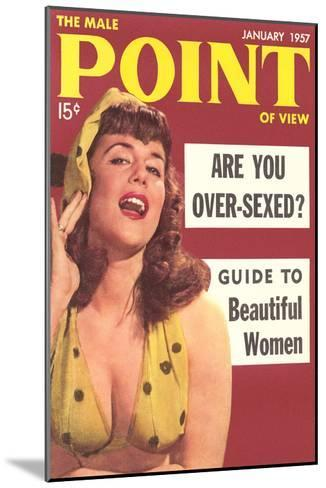 Men's Pulp Magazine Cover--Mounted Art Print