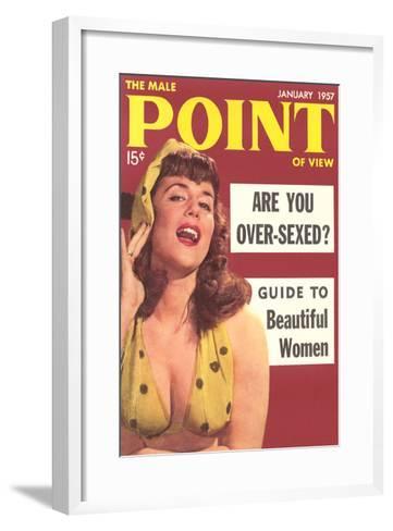 Men's Pulp Magazine Cover--Framed Art Print