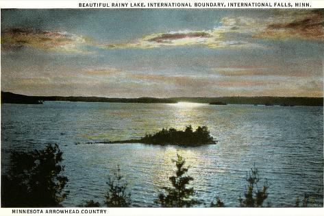 Rainy Lake, International Falls, Minnesota--Stretched Canvas Print