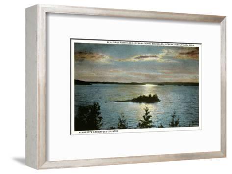 Rainy Lake, International Falls, Minnesota--Framed Art Print