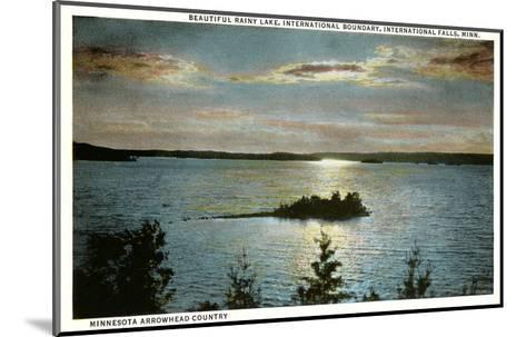 Rainy Lake, International Falls, Minnesota--Mounted Art Print