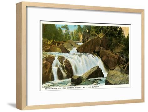 Beaver River, Lake Superior, Minnesota--Framed Art Print